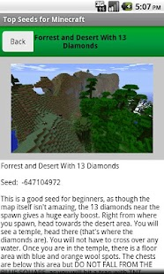 Top Seeds for Minecraft - screenshot thumbnail