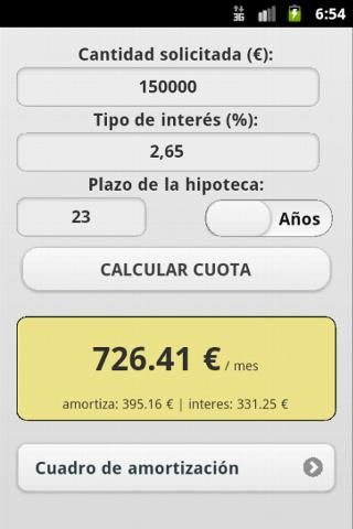 Calculadora Hipoteca - screenshot
