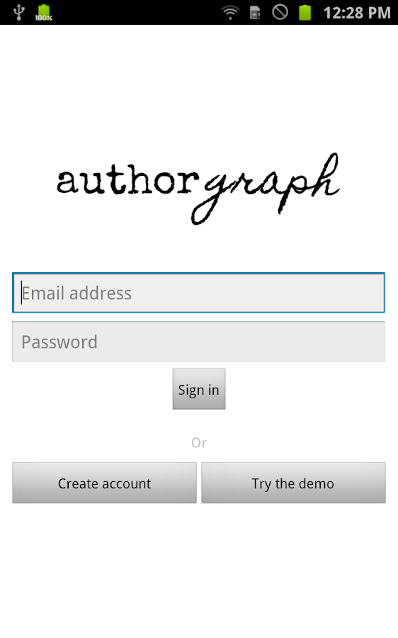 Authorgraph - screenshot