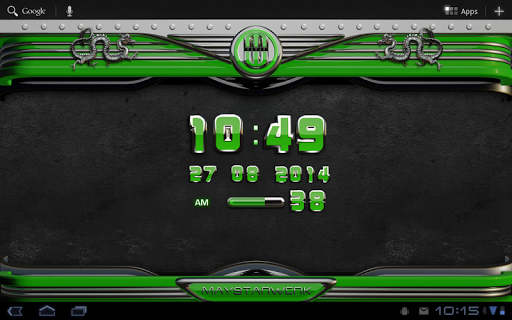 玩免費生活APP|下載緑ドラゴン時計ウィジェット app不用錢|硬是要APP