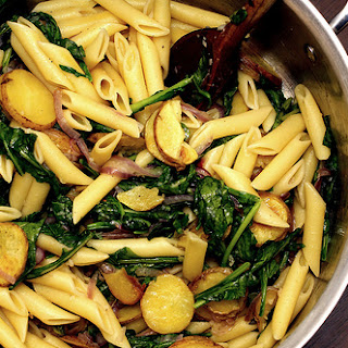 Pasta with Potatoes and Rocket.