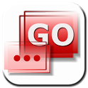GO SMS Elegant Red icon