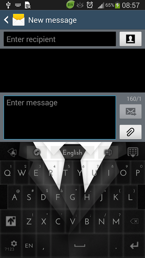 Gentleman Black Suit Keyboard - screenshot