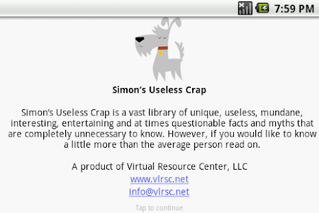 Simons Useless Crap- screenshot thumbnail