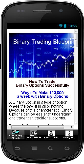 Binary trading demo app