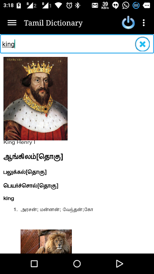 Online Tamil Dictionary - screenshot