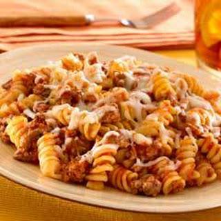 Skillet Pasta & Beef Dinner (8 Servings)