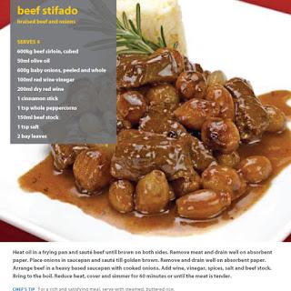 Beef Stifado - Braised Beef & Onions