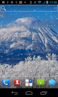 Volcano Snow Wonder LWP - screenshot thumbnail