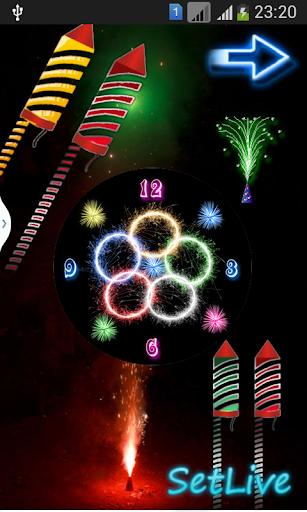 Rocket Diwali Clock