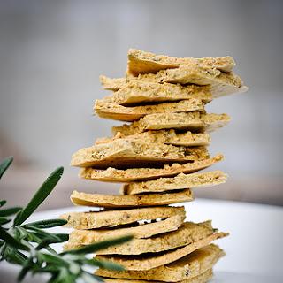 Rustic Rosemary Herb Crackers