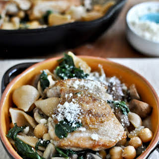 Chicken, Kale + Chickpea Skillet.
