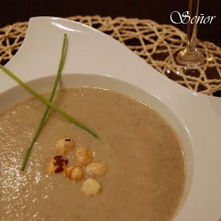 Wild Mushroom and Hazelnut Cream Soup.