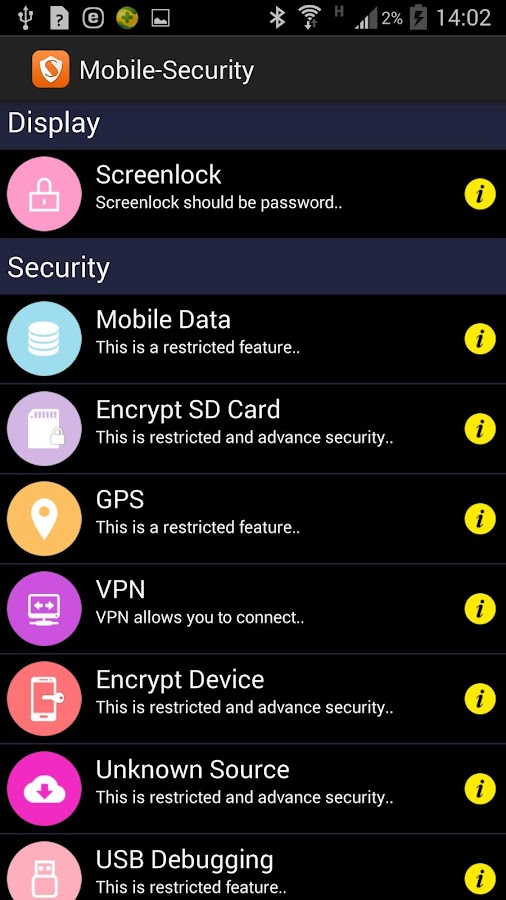Mobile-Security- screenshot