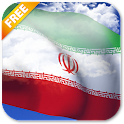 3D Iran Flag icon