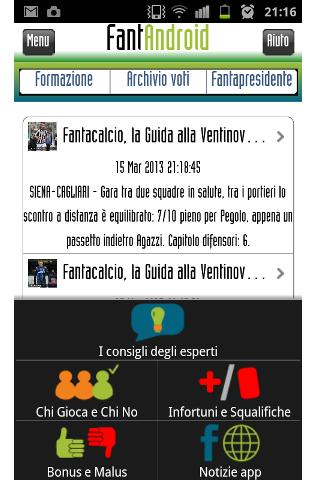 FantAndroid fantasy soccer- screenshot