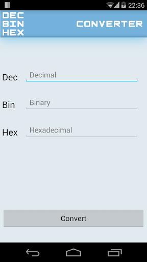 Dec Bin Hex Converter