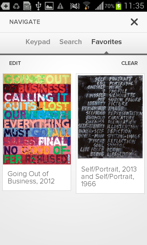 Mel Bochner: Strong Language- screenshot