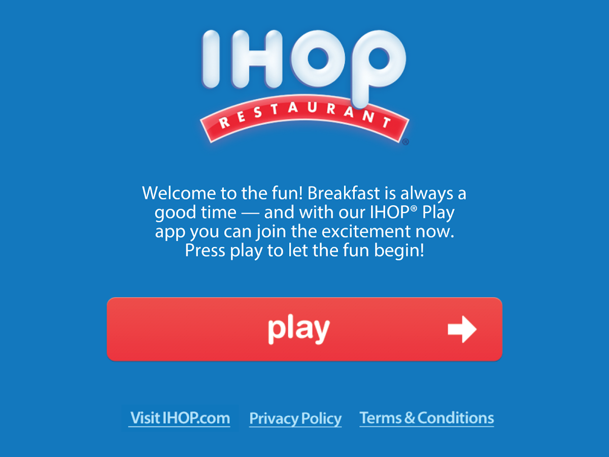 IHOP Play - screenshot