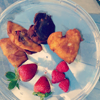 Valentine's Day Strawberry Nutella Dumplings