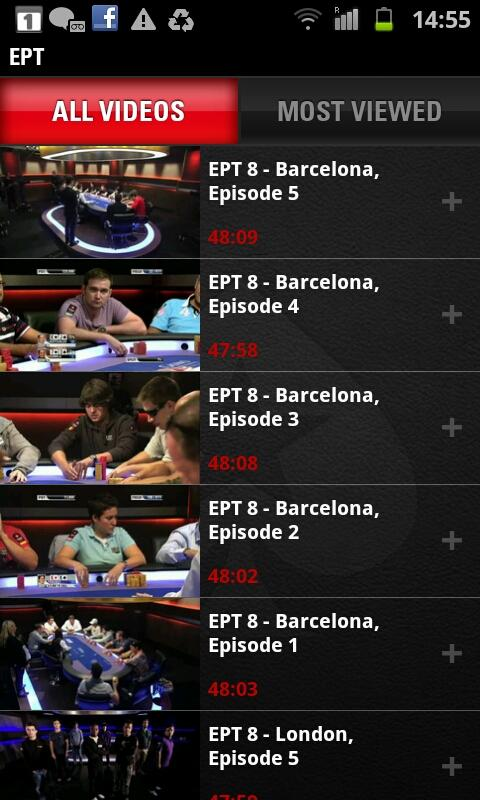 PokerStars TV - screenshot