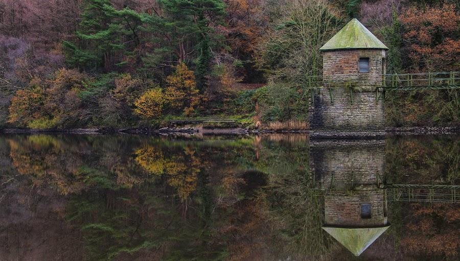 lower lliedi reservoir by Phil Crocker - Landscapes Waterscapes
