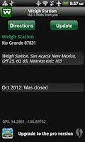 Screenshot of Weigh - Truck Weigh Stations