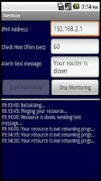 Screenshot of Network Monitor Ping Notifier