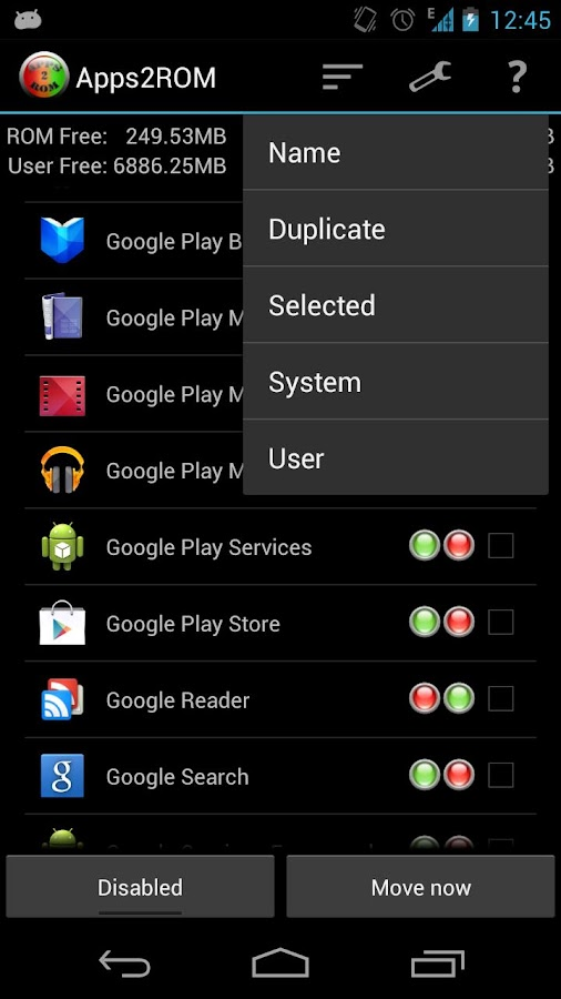 Apps2ROM [ROOT]- screenshot
