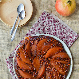 Pomegranate Pear Tarte Tatin