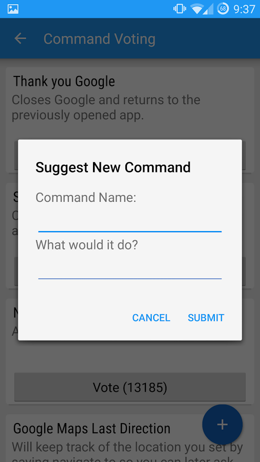 Commandr for Google Now- screenshot