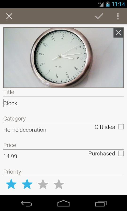 Wish list: Shopping buddy - screenshot