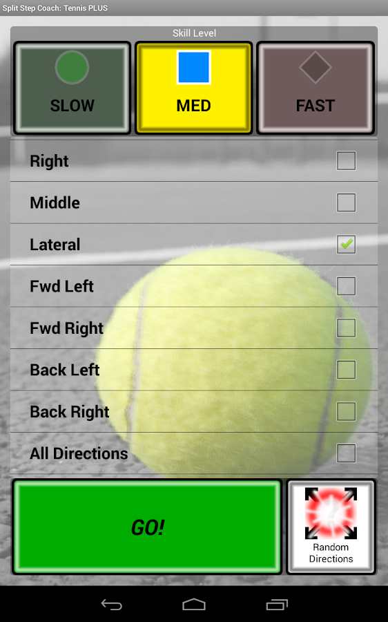 Sports Split Step Tennis Plus - screenshot