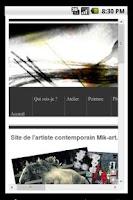 Screenshot of Site de l'artiste Mik-Art