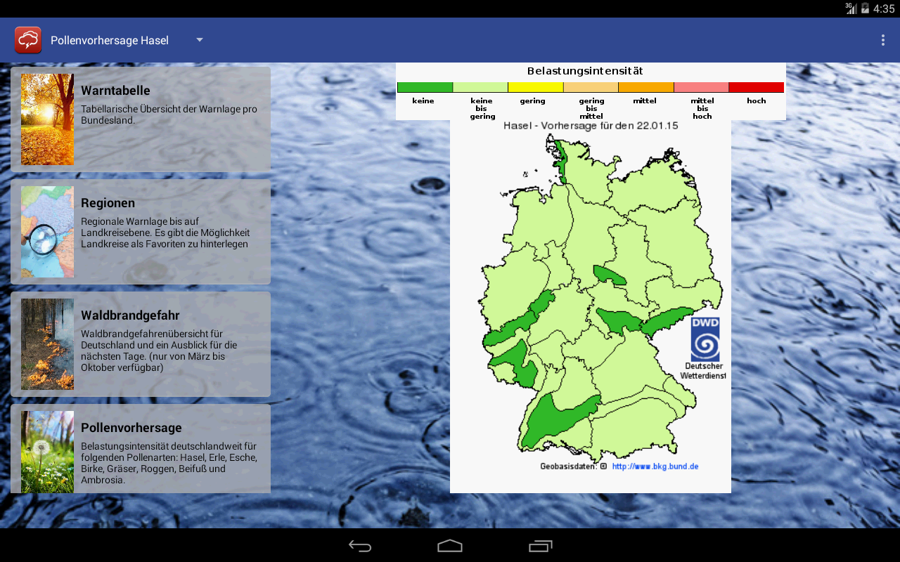 Wetterwarner - screenshot