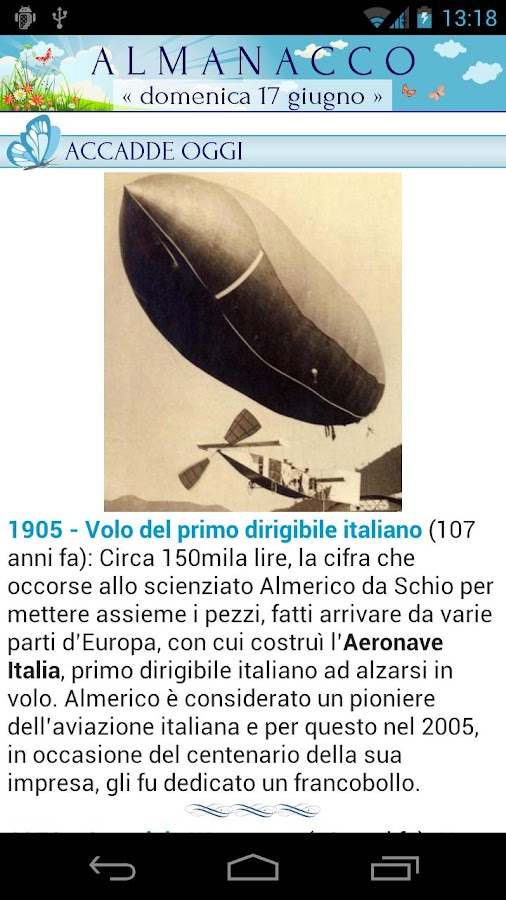 Almanacco- screenshot