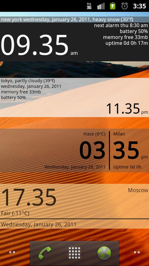 Advanced Clock Widget- screenshot