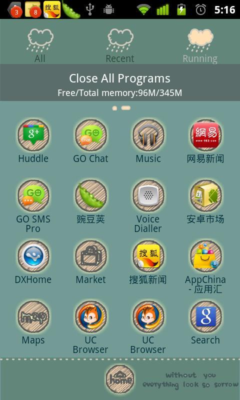 Cry Cloud Theme GO Launcher EX - screenshot