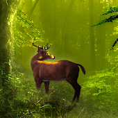 Galaxy Deer HD Live Wallpaper
