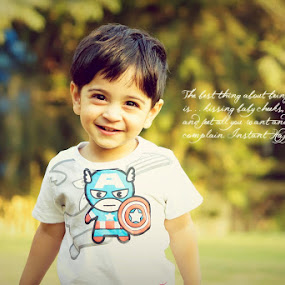joys of motherhood by Vardhini Nair - Typography Captioned Photos ( child, park, kids, baby, toddler )