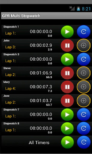 Multi Stopwatch
