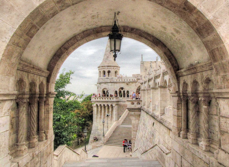Buda Castle in Budapest, Hungary.