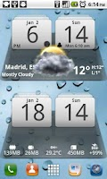 Screenshot of MIUI Digital Weather Clock