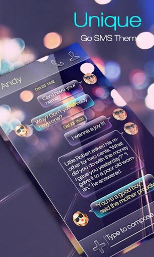 GO SMS UNIQUE THEME