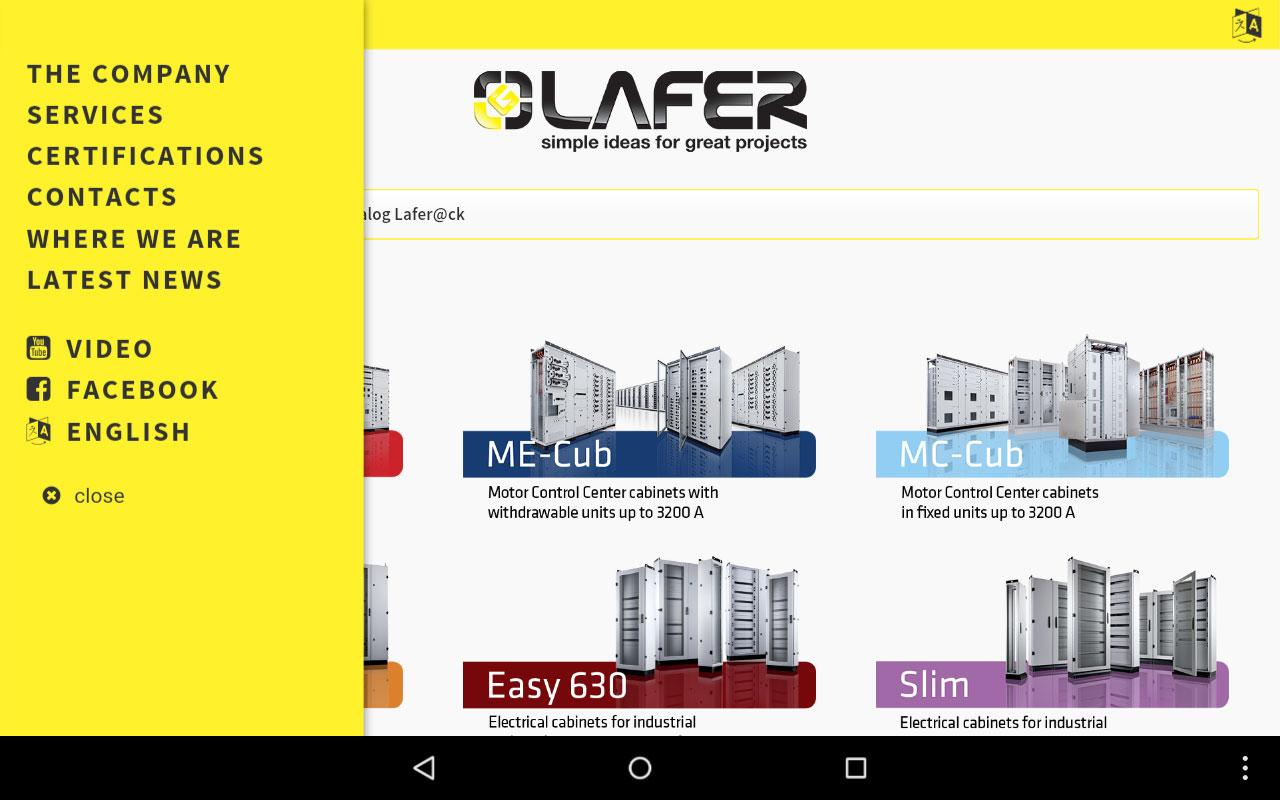 Lafer - Electrical Cabinets- screenshot