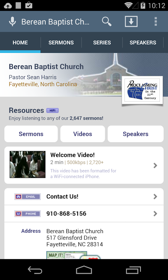 Berean Baptist Church - screenshot