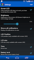 Screenshot of LED Blinker Notifications