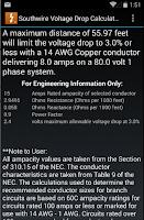 Screenshot of Southwire Volt Drop Calculator