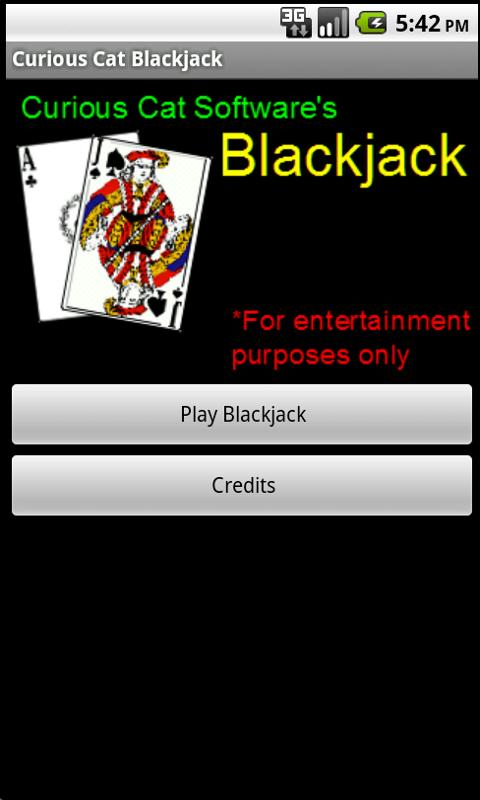 Curious Cat Blackjack - screenshot