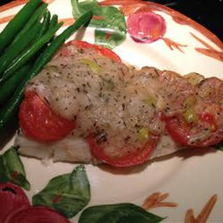 Orange Roughy with Sherry and Herb Sauce.